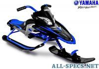 Rich Toys YM13001 Снегокат YAMAHA Apex SNOW BIKE Titanium black/blue 84207
